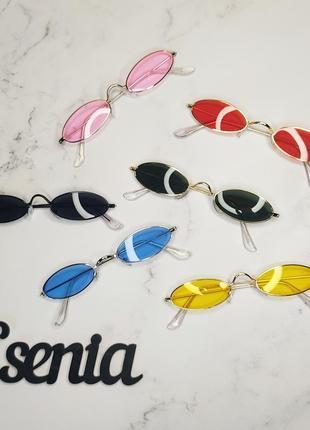 Очки овальной формы, круглые очки, узкие окуляри2 фото