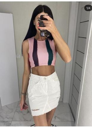 Белая джинсовка юбка торга нет