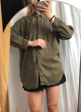 Довга жіноча сорочка кольору хакі primark