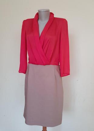 Комбинированное брендовое платье mango