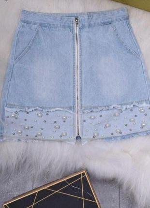 ♥️дуже класна ,стильна джинсова спідниця♥️