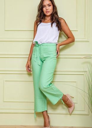 Льняные женские брюки укороченные женские брюки прямые женские брюки с высокой посадкой летние женские брюки из льна хлопковые женские брюки из хлопка
