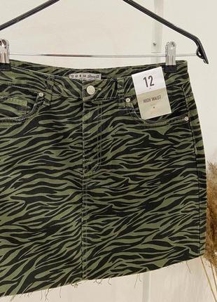 Новая юбка джинсовая denim co