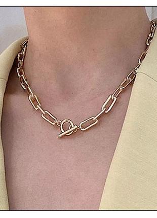 Трендовый чокер цепь ожерелье ланцюжок