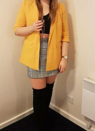 Стильная мини юбка с принтом гусиная лапка от new look