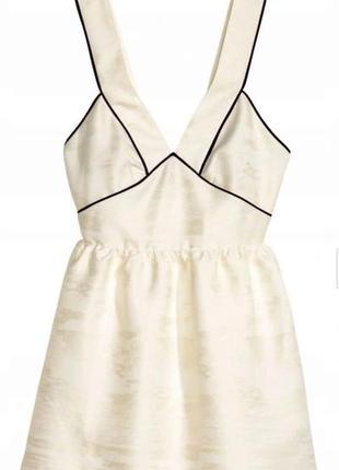 Роскошное, фактурное платье h&m с золотистым мерцанием