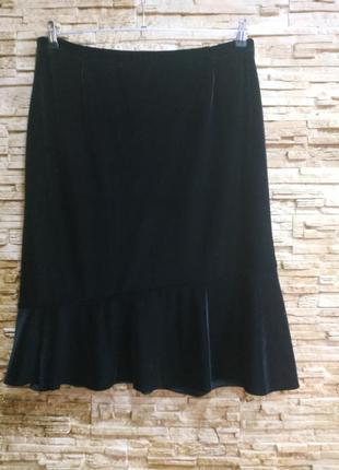Красивая велюровая, бархатная юбка