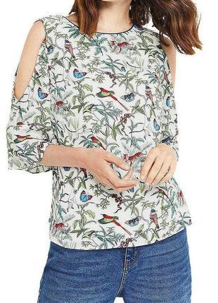 Дизайнерская шифоновая блуза с животными размера l