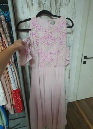 Платье с вышивкой из бисера asos