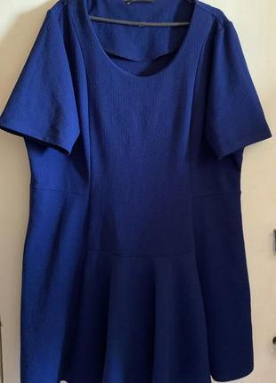Яркое синее платье пог 64,5-70см
