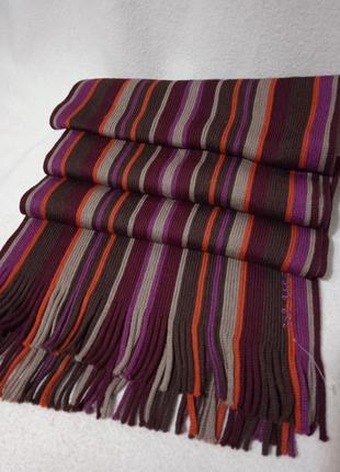Шерстяной подписной  шарф в полоску. германия