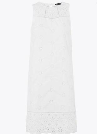 Белоснежное хлопковое платье, сарафан из прошвы
