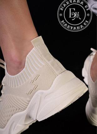 Ультрамодные летние кроссовки / беж5 фото