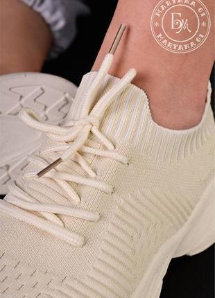 Ультрамодные летние кроссовки / беж7 фото