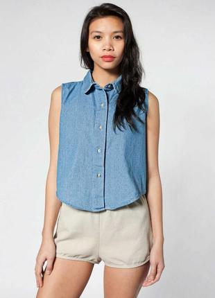 Новая джинсовая блуза трендовые пуговицы размера m-l