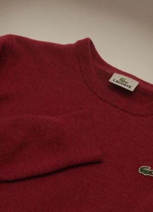 Lacoste 5 s толстовка  из гипоаллергенная  шерсти oure new wool