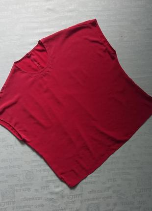 Стильная шелковая блуза/летняя футболка, модель oversize
