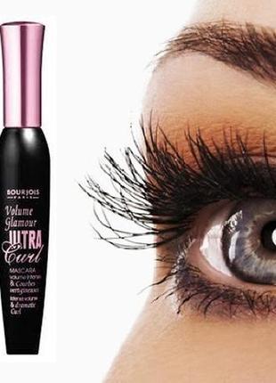 Туш для вій ультрапідкручуюча bourjois volume glamour ultra curl чорна