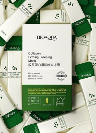 Ночная несмываемая маска для лица bioaqua collagen firming с экстрактом коллагена