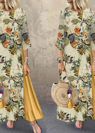 Платье а стиле бохо, большой размер