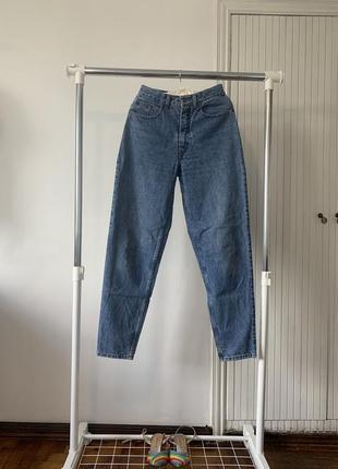 Плотные мом джинсы. синие джинсы с высокой посадкой jinglers