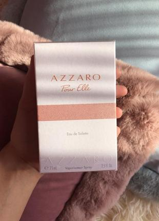 Azzaro pour elle 75 ml туалетная вода азара женская парфюмерия
