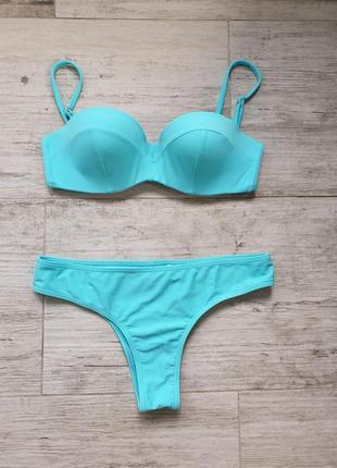 Голубой купальник hollister