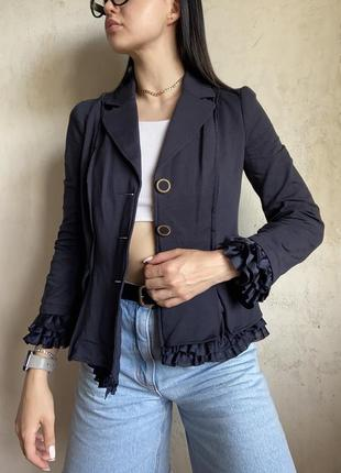 Пиджак жакет блейзер love moschino оригинал женский синий