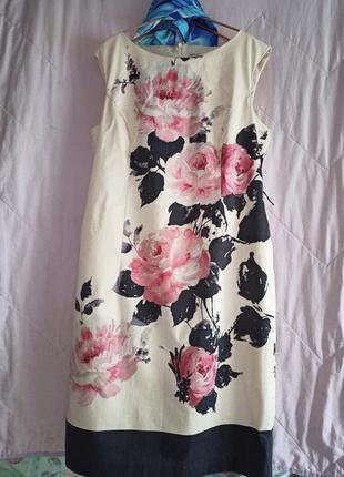 Премиум серия!изысканое мягкое платье в цветы,эластичный котон,48-52разм,phase eight.