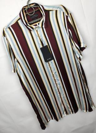 Рубашка новая мужская вискоза модная оригинал zara xl