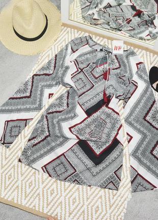 Новое платье в геометрический узор h&m
