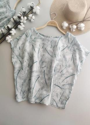 Льняная блуза, свободный крой