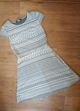 Женское летнее черно-белое платье dorothy perkins