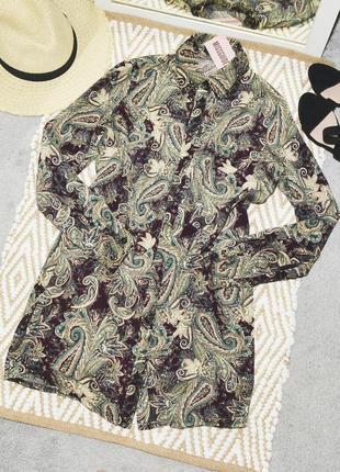 Новое платье рубашка в узор missguided