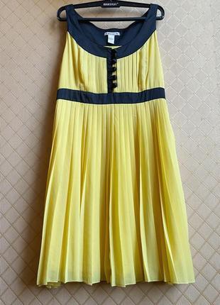 Шифоновое платье плиссе forever 21 размер m