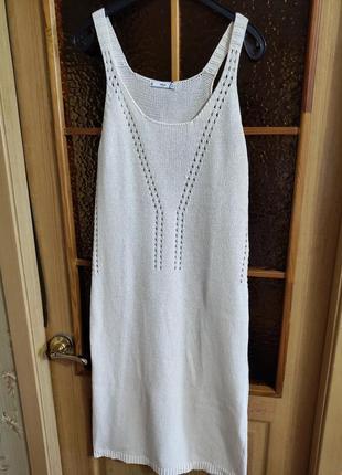 Вязаное ажурное пляжное платье сарафан