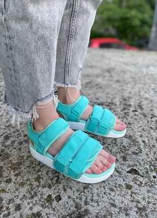 Босоножки adidas originals adilette sandals 2.0 w mint/white