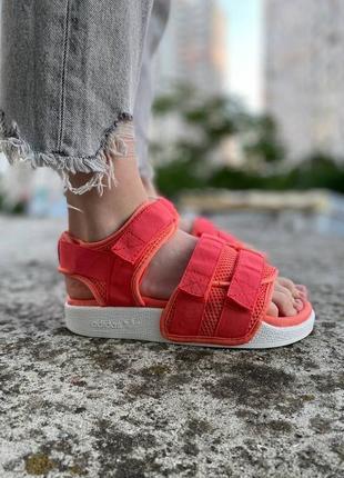 Босоножки adidas originals adilette sandal 2.0 w coral/white