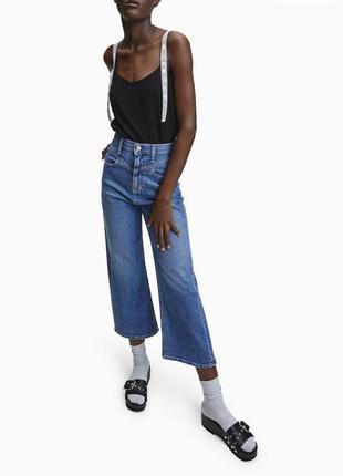 Джинсы кюлоты широкие calvin klein jeans оригинал