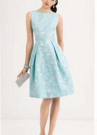 Шикарное платье ткань по типу жаккарда большого размера 14. новое