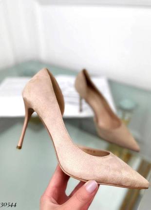 💥 шикарные замшевые туфли лодочки