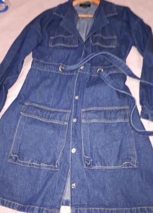 Джинсовое платье/куртка