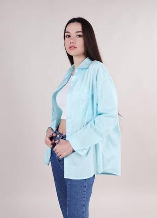 Рубашка классическая свободного пошива на пуговицах