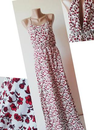 Сарафан. платье. цветочный принт