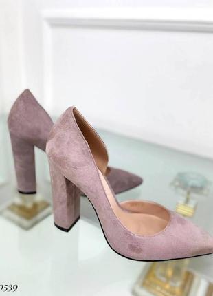 ❤️ шикарные замшевые туфли лодочки на устойчивом каблуке