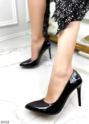 💥 шикарные лаковые натуральные туфли лодочки