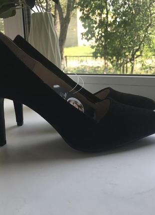 Туфлі esmara 40 розмір замшеві