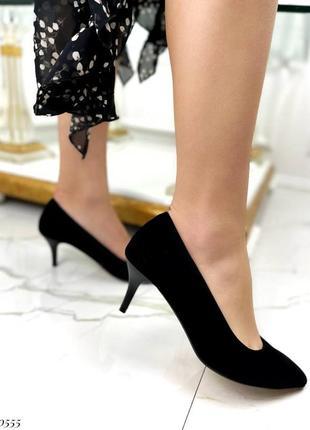 ❤️ стильные замшевые туфли лодочки на маленьком каблуке