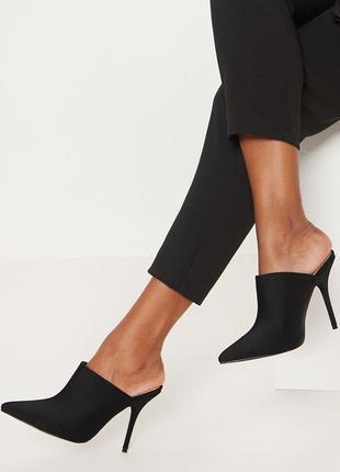 Босоножки шлепки шлепанцы мюли на каблуке new look