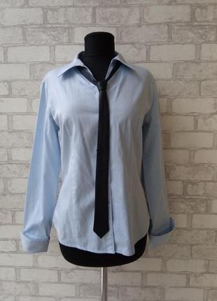 Потрясающая базовая рубашка, кожаный галстук в подарок